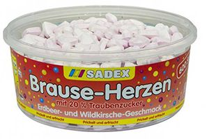 Sadex Brause Herzen ca. 600 Stück