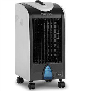 Monzana Luftbefeuchter 4 L Tank 3 Stufen Mobiles Klimagerät Ventilator Klimaanlage Ionisator Luftkühler, Ausführung:4 Liter Tank