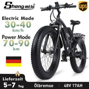 E-Bike Ebike 21 Gänge, Farbe:Schwarz Elektrofahrrad Mountainbike Trekkingrad Citybike Elektrofahrräder 26Zoll Mountainbike