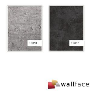 Dekorpaneel Beton Optik WallFace 19091 CEMENT LIGHT Stein Blickfang Einrichtungs Wandverkleidung selbstklebend hellgrau grau 2,60 qm
