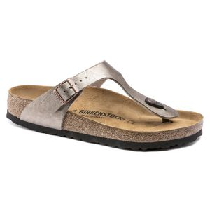 Birkenstock Gizeh Flips Birko-Flor Normal Damen graceful taupe Schuhgröße EU 38 (Regular)