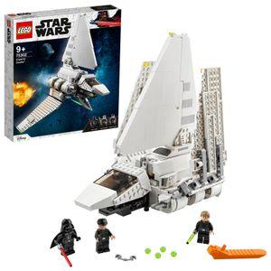 LEGO 75302 Star Wars Imperial Shuttle Bauset mit Luke Skywalker mit Lichtschwert und Darth Vader Minifiguren