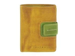 Greenburry Geldbörse Damen Leder Portemonnaie Geldbeutel gelb grün Candy Shop 867-77
