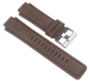 Timex Uhrenarmband Leder Braun 16mm für T2N721