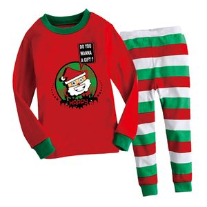 Uni Kleinkinder Nette Weihnachts Lange Unterhosen Weihnachtsmann Bequemen Pyjama 90