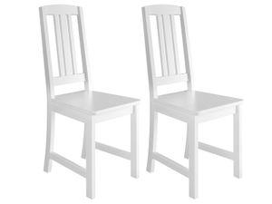 Küchenstuhl Massivholzstuhl Esszimmerstuhl Kiefer Stuhl waschweiß 90.71-22-D W