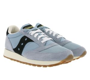Saucony Jazz Original Vintage Sneaker stylische Herren City-Schuhe Retro-Style Blau/ Schwarz, Größe:38