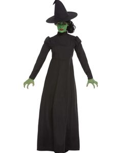 Damen Kostüm Hexe Kleid schwarz Halloween Karneval Fasching Gr. L