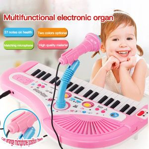 Elektronisches Orgelklavier für Kinder, 37 Tasten mit Mikrofon, Musikpiano, Lernspielzeug für Kinder