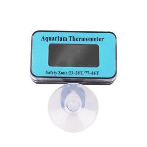 Digital LCD Aquarium Thermometer Wasserdicht Tauchfähig mit Saugnapf für Terrarium Fische Aquarium Wasser