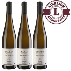Weißwein Rheinhessen Kerner Weingut Becker Qualitätswein lieblich ( 3 x 0,75 l)