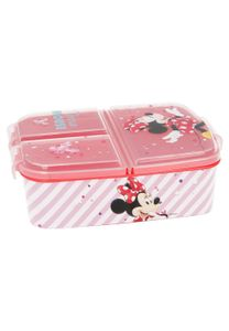 Disney Minnie Mouse Kinder Premium Brotdose Lunchbox Frühstücks-Box Vesper-Dose mit 3 Fächern