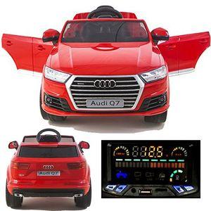 Audi Q7 Quattro SUV 12V Elektro Kinderauto elektrisch Kinder Elektroauto Kinderfahrzeug Ride-On ROT