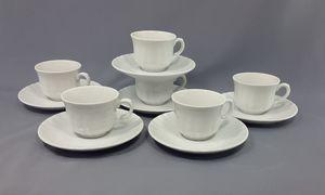 12tlg. Set Espressotassen Porzellan Barock
