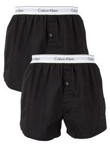 Calvin Klein Herren Slim Fit Boxershorts mit 2er-Packung, Schwarz L