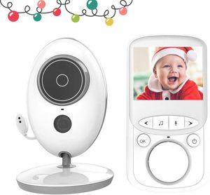 Babyphone mit Kamera- Video Baby Monitor Gegensprechfunktion Digital kabellose Überwachungskamera ( Schlafmodus, Nachtsicht, Temperatursensor, Schlaflieder) vb605