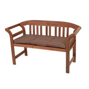 Bankauflage braun 110 cm Bank Auflage Sitzkissen Sitzauflage Gartenbank Polster