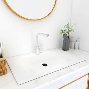 Waschtisch Einbauwaschbecken 750x460x130 mm SMC Weiß