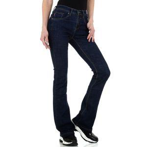 Ital-Design Damen Jeans Bootcut Jeans Dunkelblau Gr.36