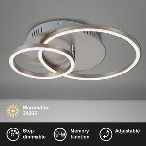 LED Deckenleuchte matt-nickel 30W dimmbar Memoryfunktion Briloner Leuchten