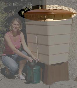 Deckel für Garantia Regentonne eckig 520 Liter Sahara braun