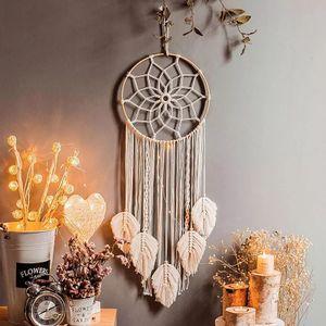 Handgemachter Traumfänger, Großes Weiß, Makramee, Boho Traumfänger, Wandbehang, Babyparty-Ornament, Dekoration
