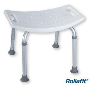 Rollafit Duschhocker konkav höhenverstellbar belastbar bis 130 kg