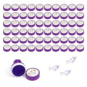 Oblique Unique 60 Einhorn Stempel Kinder Geburtstag Mädchen selbstfärbend - lila