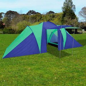 Outdoor Familienzelt Kuppelzelt 6 Personen wasserdicht ,Campingzelt ,Gartenzelt UV Schutz 50+, Grün #DE420310