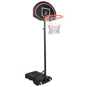 YOLEO Basketballkorb für Kinder, 1,6 bis 2,1 Meter höhenverstellbar Basketballständer Korbanlage beweglich Outdoor und Haus  Basketball-Ständer bis 12 Jahre