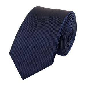 Schlips Krawatte Krawatten Binder Schmal 6cm dunkelblau strukturiert Fabio Farini