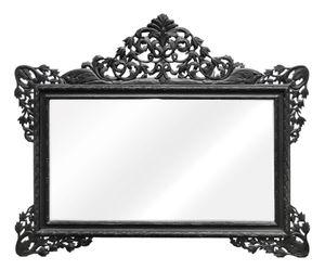 Casa Padrino Barock Wandspiegel Schwarz 190 x H. 155 cm - Wohnzimmer Spiegel im Barockstil