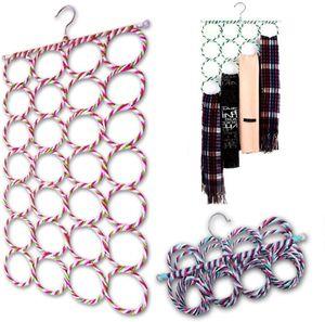 Schalhalter mit Ringen Aufhänger Gürtelhalter Krawattenhalter,klappbarer Schalhalter für Schal,Gürtel ,Krawatte Kleiderbügel