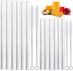 glasstrohalme strohhalm wiederverwendbar plastikfreie Reinigungsbrste - Splmaschinenfest - Nachhaltig - trinkhalmehhaltig - Glastrinkhalme Glasstrohhalme