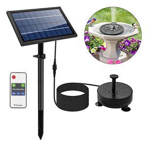 Speed 8W Wasserspiel Springbrunnen Solar Pumpe  Mit LED-Licht und 2400mAH Batterie 200L/H Fernbedienung