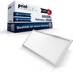 LED Panel Ultraslim 120 x 30cm Deckenlampe Einbaustrahler Lichtlampe 40 W 3600 Lumen 6000 K-Kaltweiß Weißerrahmen - Office Pro Serie