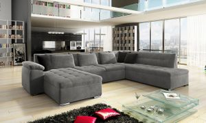 Mirjan24 Ecksofa Niko Bis, Bettkasten und Schlaffunktion, Sofa vom Hersteller, Polstergarnitur (Manila 16 + Manila 16 + Manila 18, Seite: Links)