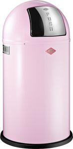 Wesco Pushboy Abfallsammler - Pink, 50 Liter, pulverbeschichteter Edelstahlkorpus