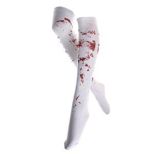 Halloween Kostüm blutige halterlose Strümpfe