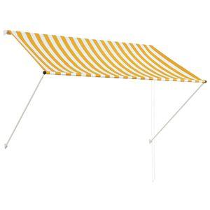 yocmall Einziehbare Markise 200×150 cm Gelb und Weiß