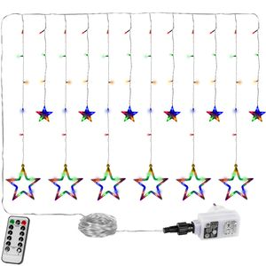 VOLTRONIC® 12 Sterne LED Lichtervorhang, bunt, FB