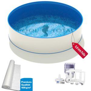 Pool-Set TOP+ Ø 3,50 x 1,20m, 0,6mm Stahl, 0,8mm Folie mit Keilbiese