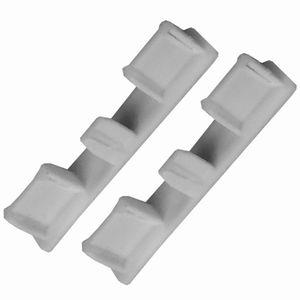 2er Pack Seitendeckel ( Silber ) für 1/2 Alu-Vorhangschienen von Bestlivings, Endkappe für Gardinenschiene