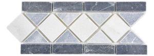 Naturstein Bordüre nero bianco bardiglio grau weiss Bad Wand Boden