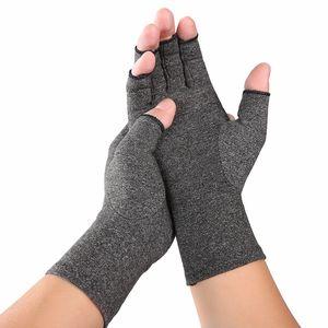 Kompression, offene Finger, Therapie-Handschuhe für Hand, Gelenkschmerzen S. Grau Kompressionshandschuhe Handschuhe