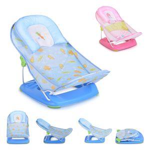 Moni Baby-Badewannen-Liege Rory Badewannensitz weiches Kissen 2 Sitzpositionen, Farbe:blau