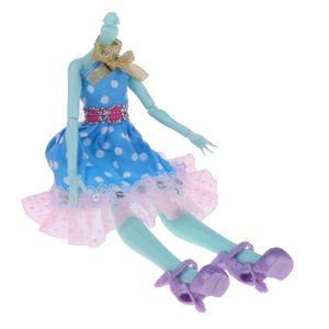 1 Stück Nude Doll Body (ohne Kopf) , 1 Stück Puppen Kleid , 1 Paar Puppenschuhe ,