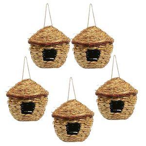 5pcs Natürliche Vogelnest Nest Kanariennest Nistkasten Nestplatz Nistmaterial für Kanarienvögel zum aufhängen