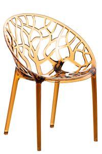 CLP Stapelstuhl Crystal wetterbeständiger Stapelstuhl mit einer Sitzhöhe von 45 cm, Farbe:bernstein