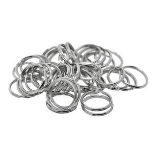 50 Stücke 20mm Kleine Metall Runde Split Ringe Schlüsselring Erkenntnisse